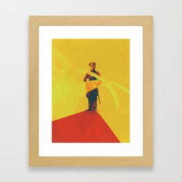 Thin Red Line Framed Art Print
