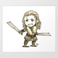 fili Art Prints featuring Fili Chibi by KuroCyou