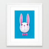 rabbit Framed Art Prints featuring Rabbit by Lime