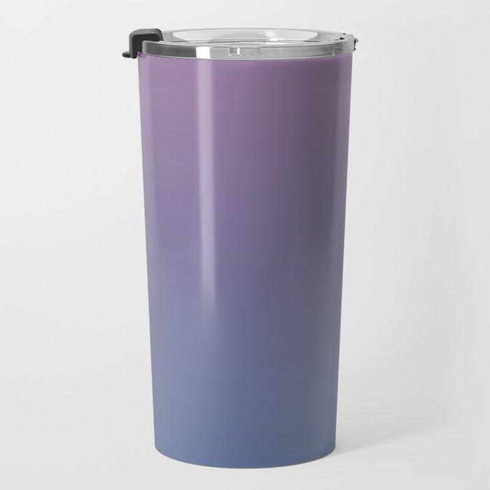 Gradient Dawn Pink Purple Blue Travel Mug