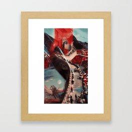 Snake Portal Framed Art Print