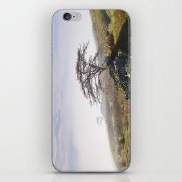 Tree and rising cloud. Cumbria, UK. iPhone Skin
