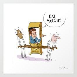 """En marche."" Art Print"