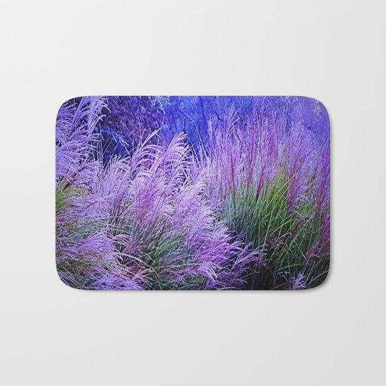 Purple long grass Bath Mat