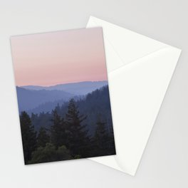 Sunset in the Santa Cruz Mountains Stationery Cards