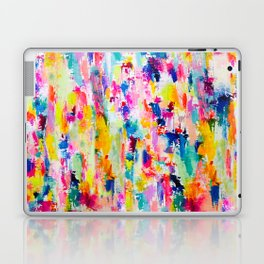 Bright Colorful Abstract Painting in Neons and Pastels Laptop & iPad Skin