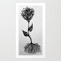 A Flower Art Print