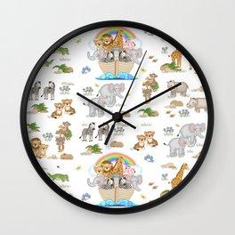 Noahs Ark Animals Wall Clock