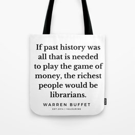 44  | Warren Buffett Quotes | 190823 Tote Bag