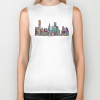 houston Biker Tanks featuring Houston by bri.buckley