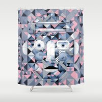 building Shower Curtains featuring Building blocks by Dani Aristizábal