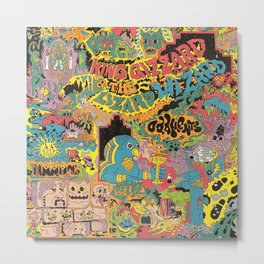 King Gizzard And The Lizard Wizard - Oddments Metal Print
