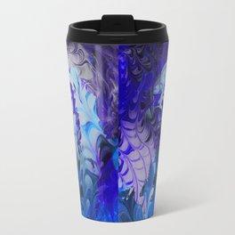 Hidden Face in the Blue Travel Mug