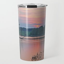 Willen Lake Sunset Travel Mug