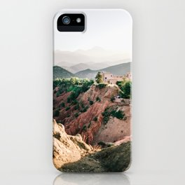 Travel photography Atlas Mountains Ourika | Colorful Marrakech Morocco photo iPhone Case