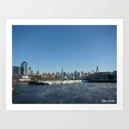 Chicago Skyline from North Ave. Art Print