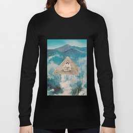 Flotar entre las nubes  Long Sleeve T-shirt