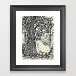 The Princess and her Tree Framed Art Print