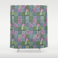 Golden Thyme and Silver Mint Shower Curtain