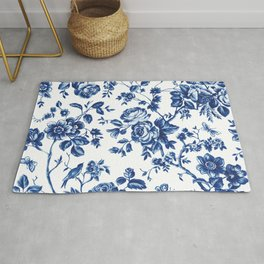 French Rose Toile Rug