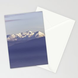 Snowy Italian Apennines mountains Stationery Cards