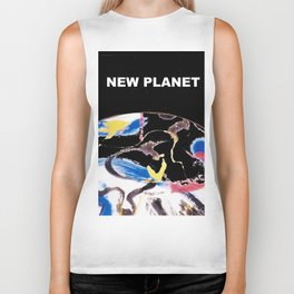 NEW PLANET     by    Kay Lipton Biker Tank