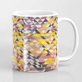 Triangle Pattern No.8 Black and Yellow Coffee Mug