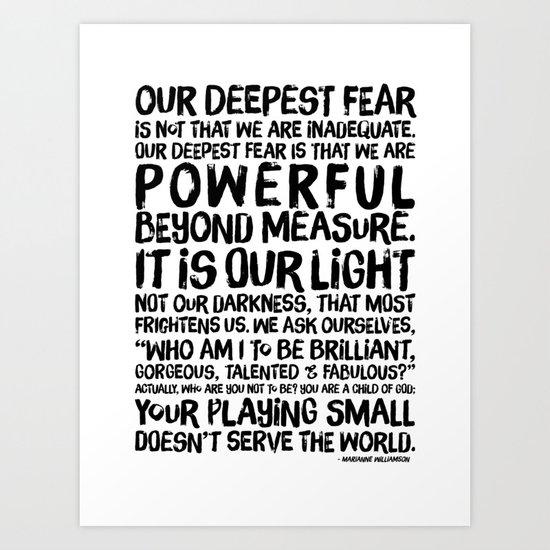 Inspirational Print Powerful Beyond Measure Marianne Williamson