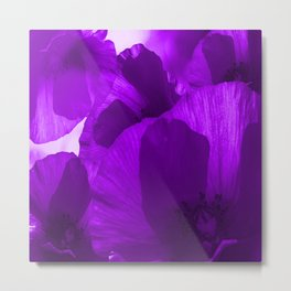 Ultra Violet Poppies #decor #society6 #buyart Metal Print