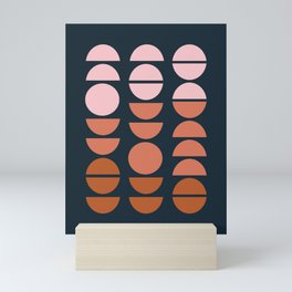 Modern Desert Color Shapes Mini Art Print