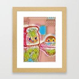 Toast & Egg Framed Art Print