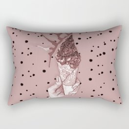 watercolor bardo pattern with grey ice cream and chocolate Rectangular Pillow