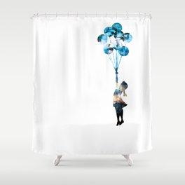 Banksy Balloon Girl Shower Curtain