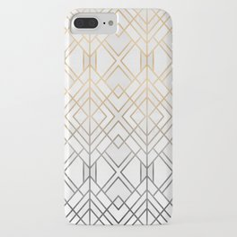 Gold And Grey Geo iPhone Case