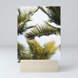 Green Palm Leaf' Mini Art Print