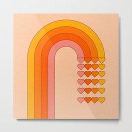 Sweetheart Rainbow Metal Print