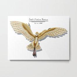 Barn Owl Harpy Metal Print