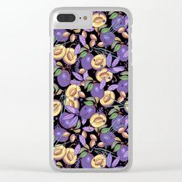 Purple plum garden. Clear iPhone Case