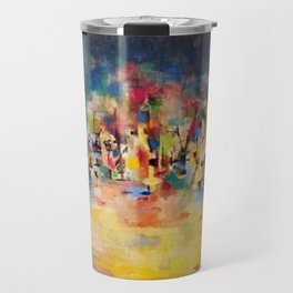 African American Masterpiece 'Untitled' No. 3 by Norman Lewis Travel Mug
