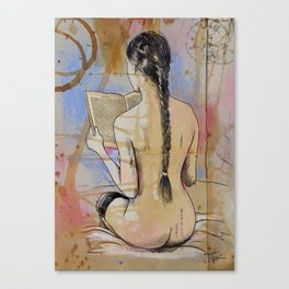 SHE READS Canvas Print