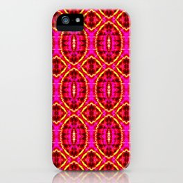 Flaming Shapes iPhone Case