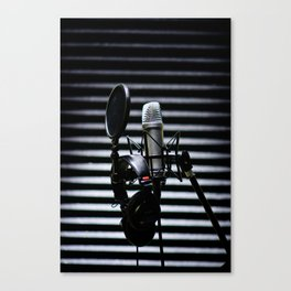 Mic Check Canvas Print