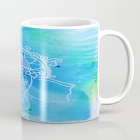 hindu Mugs featuring Untitled (Elephant) by AriesArtNW.com