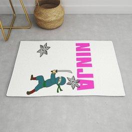 Birthday Ninja Party Samurai Ninjas Gift Japanese Ninja stars Fighter Gift 12 Rug