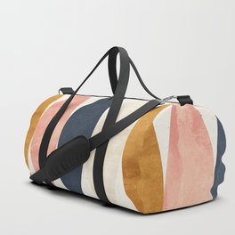 Colorful Pastel Geometric Scale Pattern Pink Navy Gold Art Deco Duffle Bag