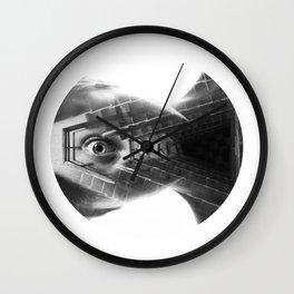 Circled Triangle Wall Clock