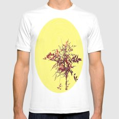 Spiral and Tree MEDIUM Mens Fitted Tee White