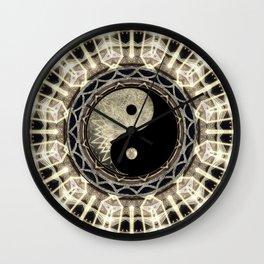 Yin Yang Geometry Mandala V1 Wall Clock