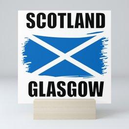 Scotland Glasgow Flag Mini Art Print