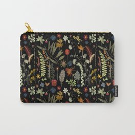 Dark Floral Sketchbook Carry-All Pouch
